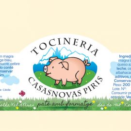 Renewal of some old labels for Tocineria Casasnovas Piris